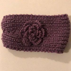 Other - NEW Knit Purple Flower Headband